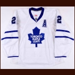 2009-10 Francois Beauchemin Toronto Maple Leafs Game Worn Jersey - Photo Match