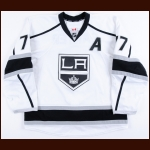 2015-16 Jeff Carter Los Angeles Kings Game Worn Jersey - Photo Match – Team Letter