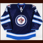 2013-14 Zach Bogosian Winnipeg Jets Game Worn Jersey – Team Letter