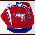 2009 Thomas Vanek Eastern Conference NHL All Star Game Worn Jersey - Hockey Fights Cancer Letter