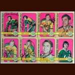 1972-73 Autographed California Golden Seals Card Group of 8