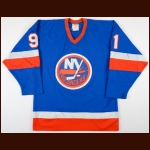 1981-82 Butch Goring New York Islanders Game Worn Jersey - Stanley Cup Season - Photo Match