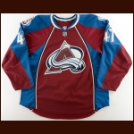 2013-14 Gabriel Beaupre Colorado Avalanche Pre-Season Game Worn Jersey – Team Letter