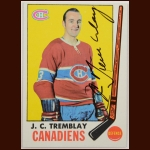 1969-70 J.C. Tremblay Montreal Canadiens Autographed Card – Deceased