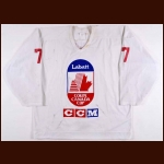 1991 Dave Manson Team Canada Canada Cup Pre-Tournament Game Worn Jersey