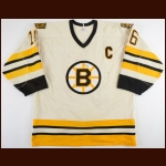 1984-85 Rick Middleton Boston Bruins Game Worn Jersey - Photo Match