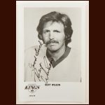 Bert Wilson Los Angeles Kings 8x10 B&W Autographed Photo – Deceased
