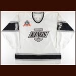1992-93 Jari Kurri Los Angeles Kings Stanley Cup Finals Game Worn Jersey - Photo Match