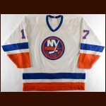 1987-88 Brad Dalgarno New York Islanders Game Worn Jersey – Rookie - Photo Match