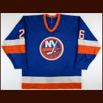 1986-87 Pat Flatley New York Islanders Game Worn Jersey