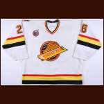 1992-93 Tim Hunter Vancouver Canucks Game Worn Jersey