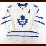 2011-12 Mike Komisarek Toronto Maple Leafs Game Worn Jersey – Team Letter