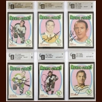 Lot of (6) 1971-72 Topps Minnesota North Stars Autographed Cards – GAI Certified