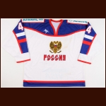 2002-03 Vitali Proshkin Russian National Team Eurohockey Tour Game Worn Jersey