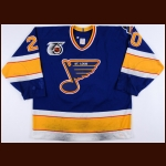 "1991-92 Lee Norwood St. Louis Blues Game Worn Jersey – ""25-year Anniversary"""