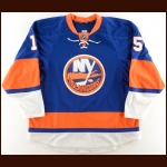 2013-14 Cal Clutterbuck New York Islanders Game Worn Jersey – Photo Match – Team Letter