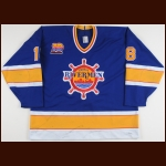 "1993-94 Tony Hrkac Peoria Rivermen Game Worn Jersey – ""Rivermen 10-year Anniversary"""