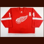 2001-02 Brendan Shanahan Detroit Red Wings Game Worn Jersey - 2nd Team NHL All Star - All Star Season - Stanley Cup Season - Photo Match – Team Letter