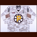 2013-14 Mike Moore Providence Bruins Game Worn Jersey – Alternate