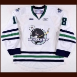 "2009-10 Sean Myers Plymouth Whalers Game Worn Jersey – ""20-year"" – Team Letter"