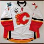 "2009-10 Adam Pardy Calgary Flames Game Worn Jersey - ""30-year"" - Photo Match - Team Letter"