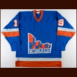 Early 1980's Indianapolis Checkers Game Worn Jersey – Player #19