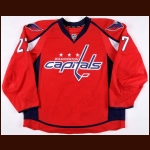 2013-14 Karl Alzner Washington Capitals Game Worn Jersey - Photo Match