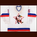 1995-96 UCKA Central Red Army Russian Penguins Game Worn Jersey – Player #16