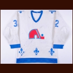 Early 1980's Dale Hunter Quebec Nordiques Game Worn Jersey