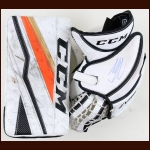 Jonathan Bernier Anaheim Ducks White CCM Blocker & Catcher – Autographed – Photo Match – The Jonathan Bernier Collection – Jonathan Bernier Letter