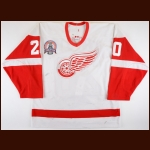 "2001-02 Luc Robitaille Detroit Red Wings Stanley Cup Finals Game Worn Jersey – ""2002 Stanley Cup Finals"" - Photo Match – Team Letter"