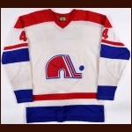 1973-74 Francois Lacombe WHA Quebec Nordiques Game Worn Jersey