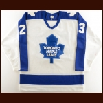 Mid 1980's Todd Gill Toronto Maple Leafs Pre-Season Game Worn Jersey – The Terrence Murphy Collection – Joe Murphy Letter