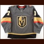 2018-19 William Karlsson Vegas Golden Knights Game Worn Jersey – Photo Match – Team Letter