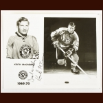 Keith McCreary Pittsburgh Penguins Autographed 8x10 B&W Photo – Deceased