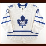 2012-13 Tim Connolly Toronto Maple Leafs Pre-Season Game Worn Jersey