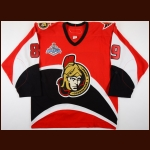 "2006-07 Mike Comrie Ottawa Senators Stanley Cup Finals Game Worn Jersey – ""2007 Stanley Cup Finals"" – Team Letter"