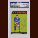 Vic Hadfield 1965 Topps – New York Rangers – Autographed – PSA/DNA