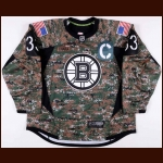 2013-14 Zdena Chara Boston Bruins Warm-Up Jersey - Military Night Warm-Up - Photo Match – Team Letter