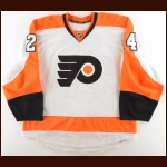 2011-12 Matt Read Philadelphia Flyers Game Worn Jersey – Rookie – Photo Match – Team Letter