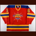 Peoria Rivermen 1980's Peoria Rivermen Game Worn Jersey – Player #16