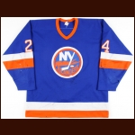 1986-87 Mikko Makela New York Islanders Game Worn Jersey