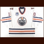"2003-04 Shawn Horcoff Edmonton Oilers Game Worn Jersey – ""25-year Anniversary – Photo Match – Team Letter"