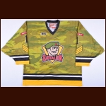 2013-14 Jake Smith North Bay Battalion Game Worn Jersey – Alternate - Team Letter