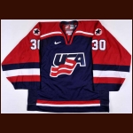 2002 Tom Barrasso Team USA Olympics Game Worn Jersey – Tom Barrasso Letter