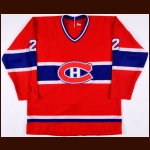 1980-81 Gaston Gingras Montreal Canadiens Game Worn Jersey