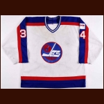 1989-90 Gord Donnelly Winnipeg Jets Game Worn Jersey – Gord Donnelly Letter