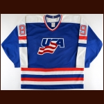 Early 1990's Phil Bourque Team USA Game Worn Jersey