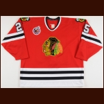 1992-93 Dave Christian Chicago Blackhawks Game Worn Jersey - Photo Match