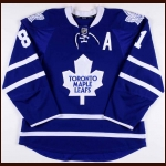 2011-12 Phil Kessell Toronto Maple Leafs Game Worn Jersey - 1st Maple Leafs Hat Trick - Career Best 37-Goal Season - Photo Match – Team Letter